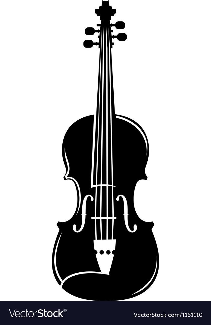 Violin silhouette vector image