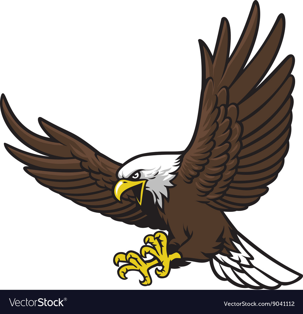 Flying eagle mascot royalty free vector image vectorstock flying eagle mascot vector image altavistaventures Images