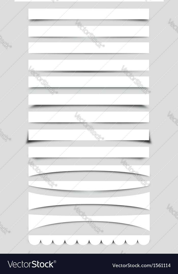 Collection of Box Shadows vector image