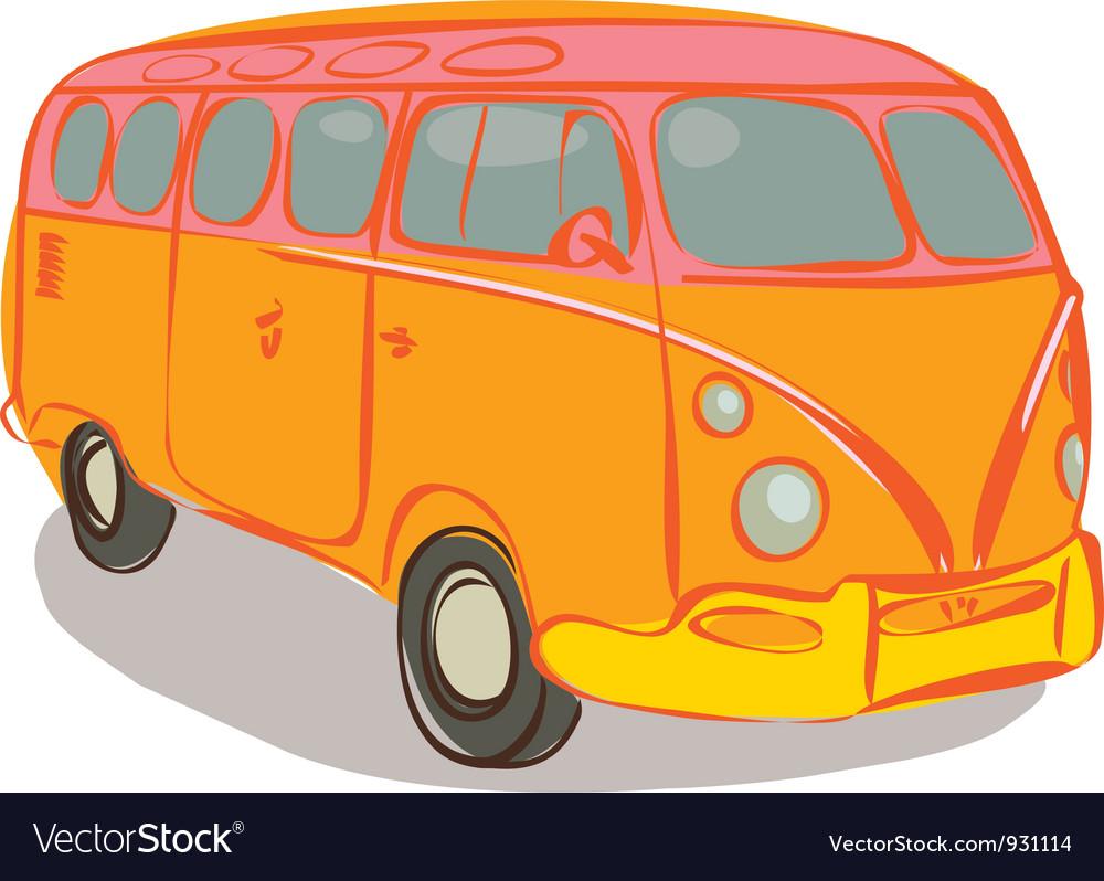 Hippie van vector image