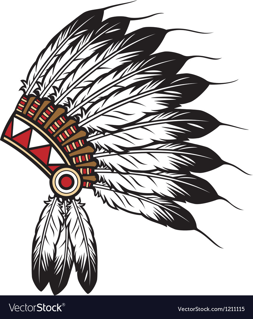 Native American Indian chief headdress Royalty Free Vector ...