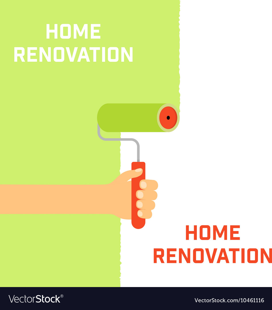Home renovation concept vector image