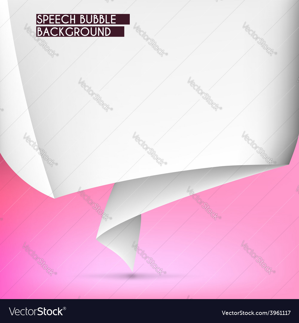 Background with speech bubble vector image