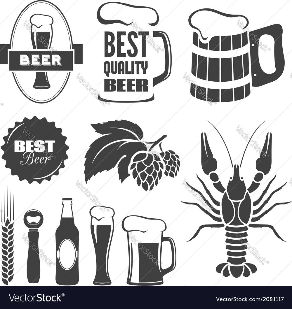 Beer symbols vector image