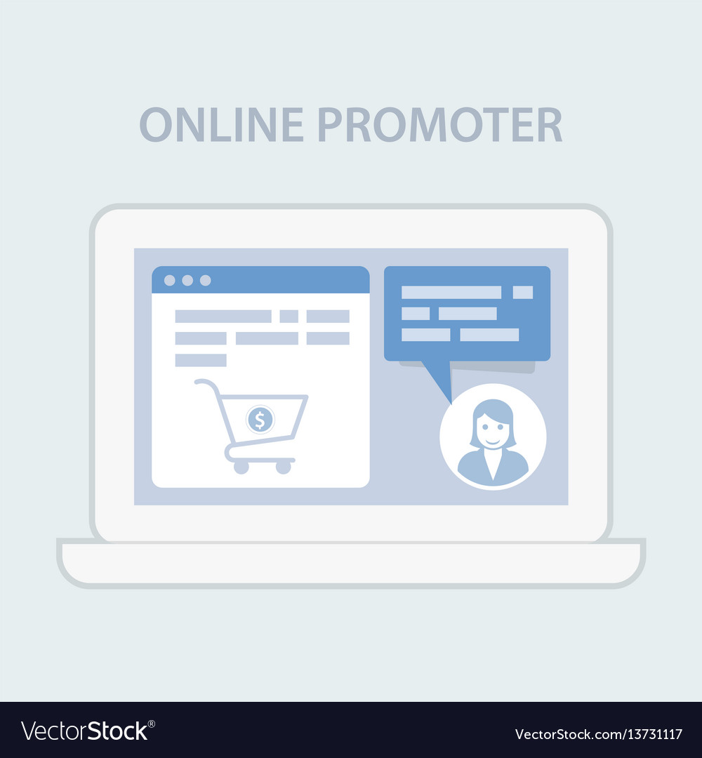 Website chat assistance prompter - online hint vector image
