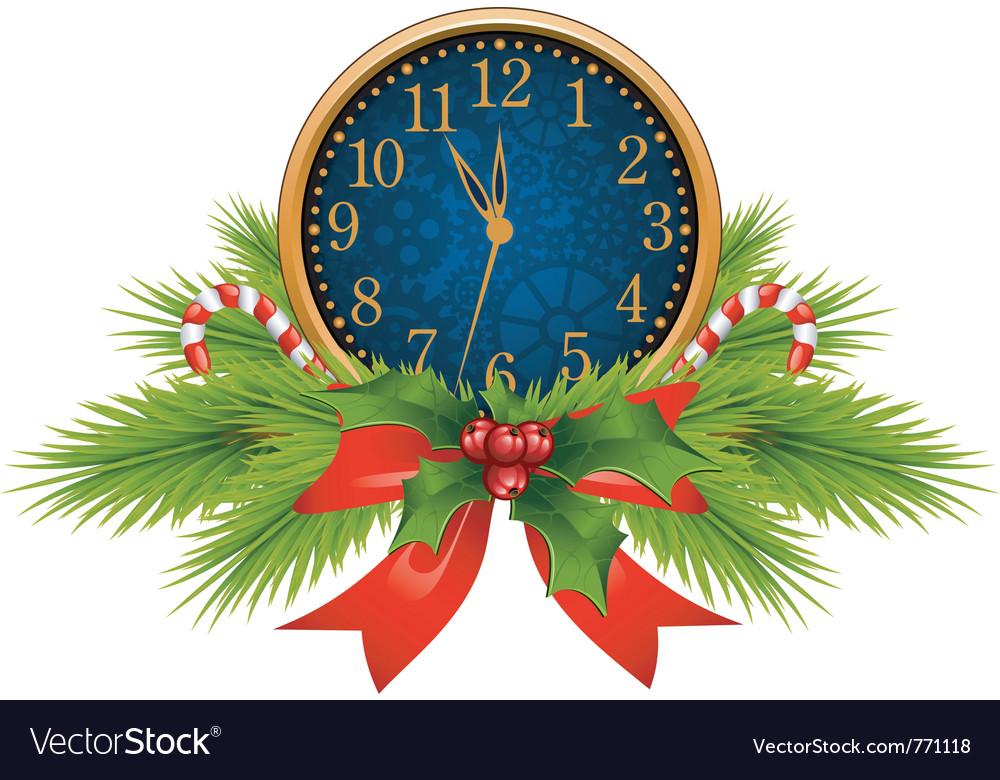 Christmas clocks vector image