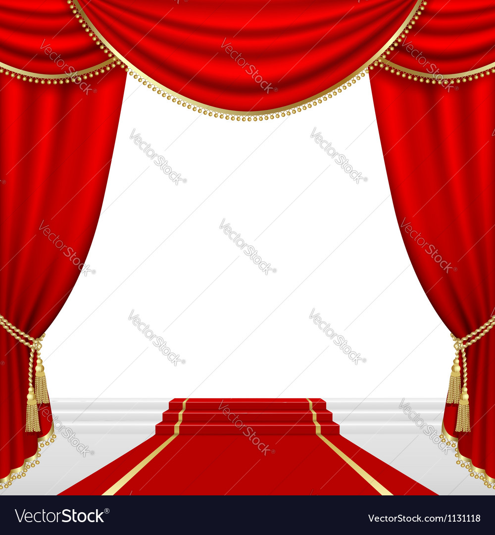 Blue stage curtains blue stage curtain vector free vector in - Theater Stage With Red Curtain Vector Image