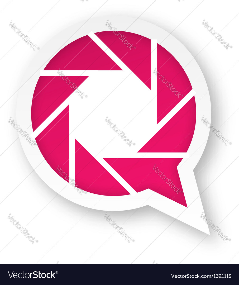 Pink photography logo vector image