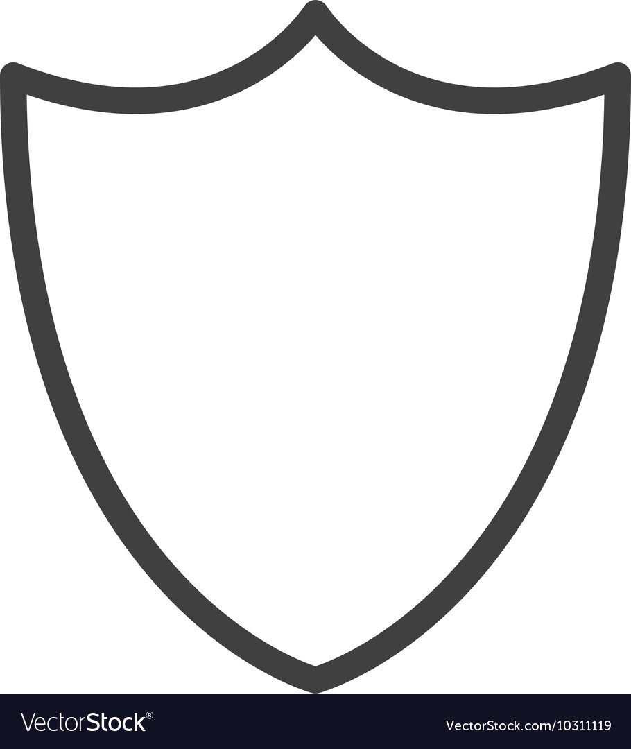 Blank Shield Icon Royalty Free Vector Image