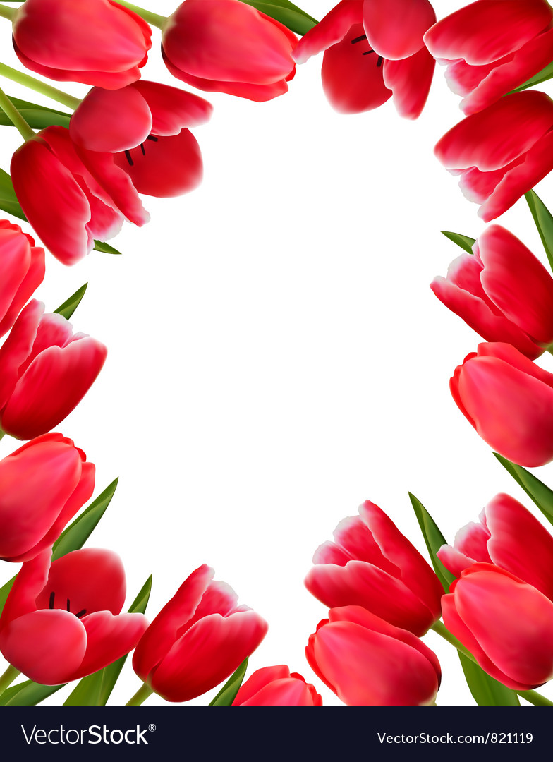 Red fresh spring flowers background royalty free vector red fresh spring flowers background vector image mightylinksfo Images