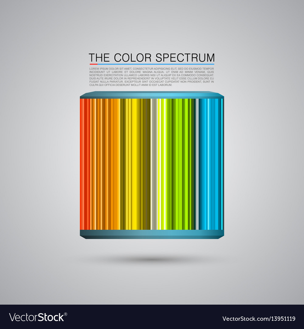 The color spectrum vector image