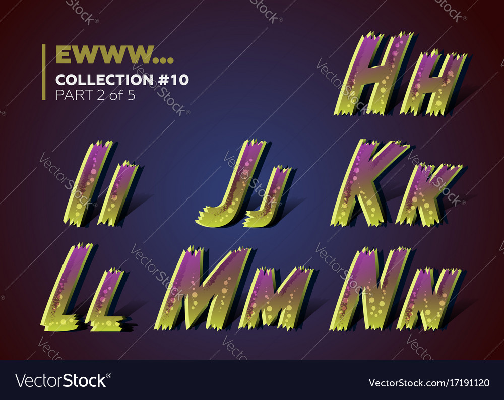 Infected typeset for halloween party celebration vector image