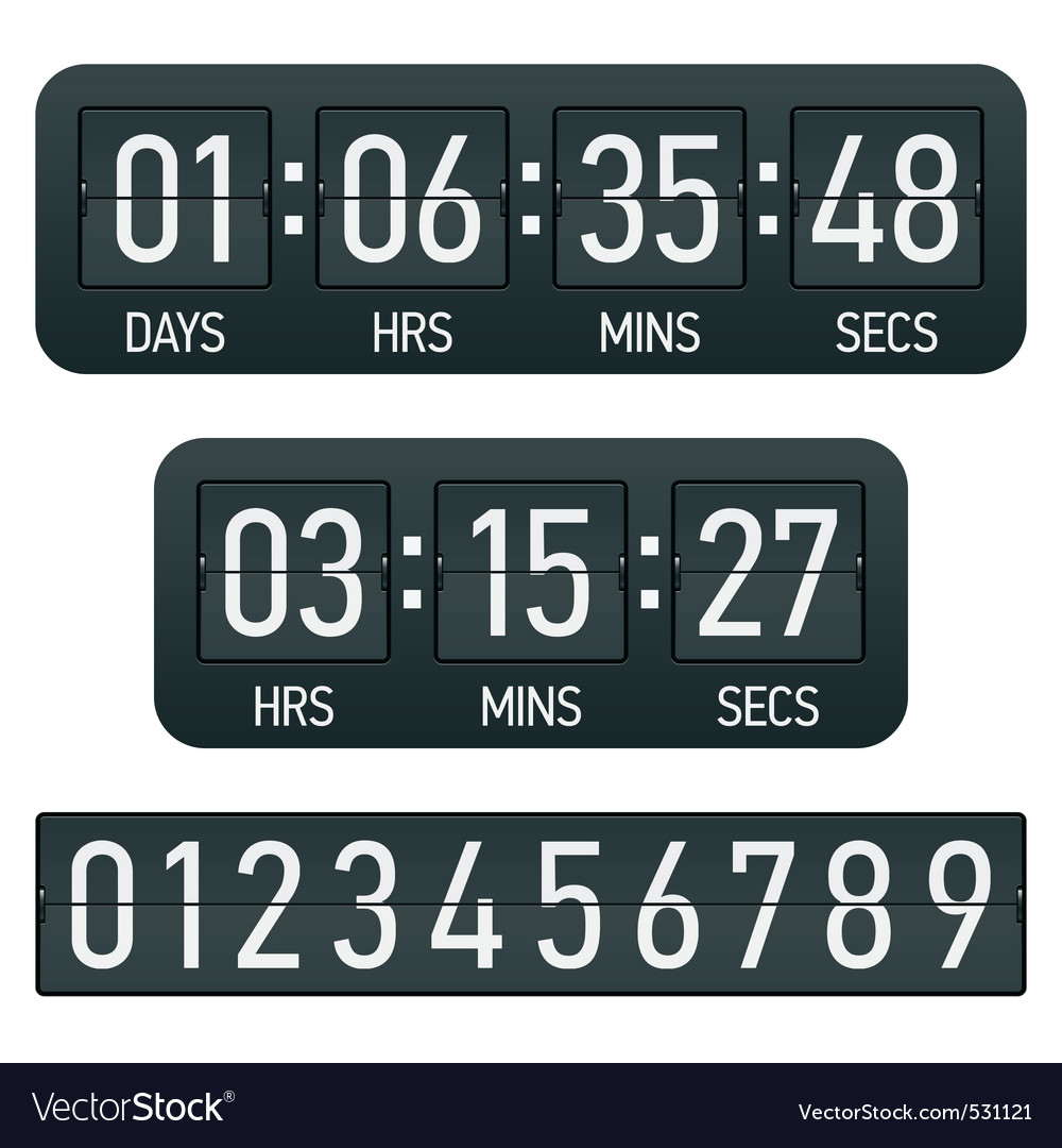 Countdown timer vector image