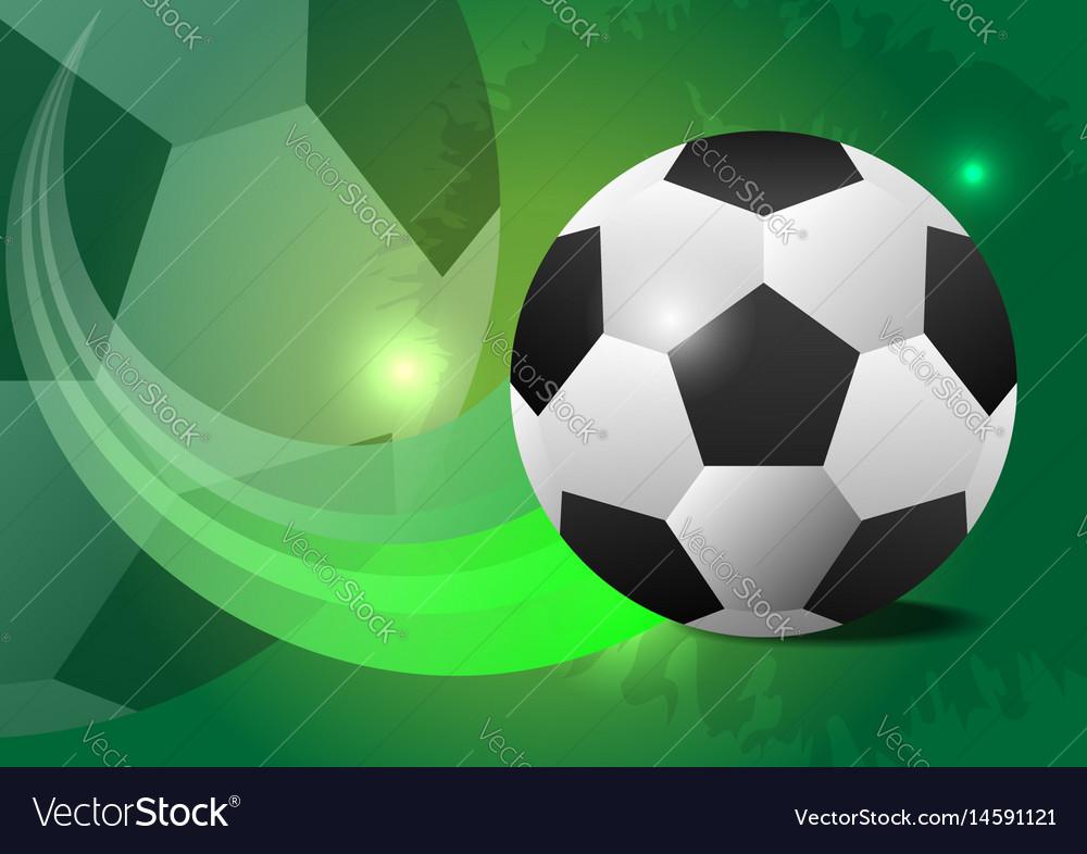 Creative soccer design ball concept vector image