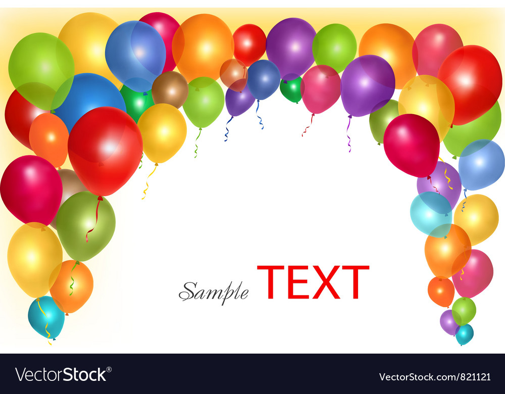 Holiday Background With Colorful Ballons Vector Image