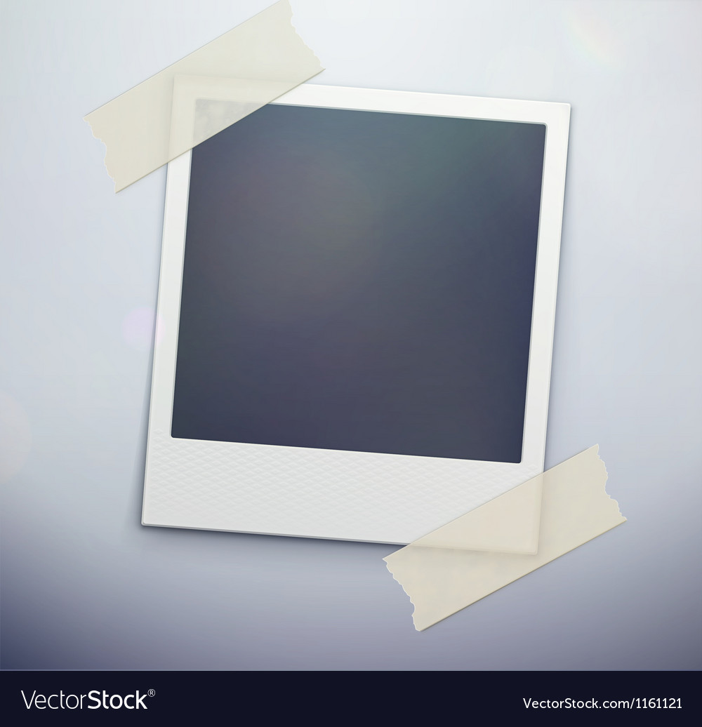 Retro polaroid photo frame vector image