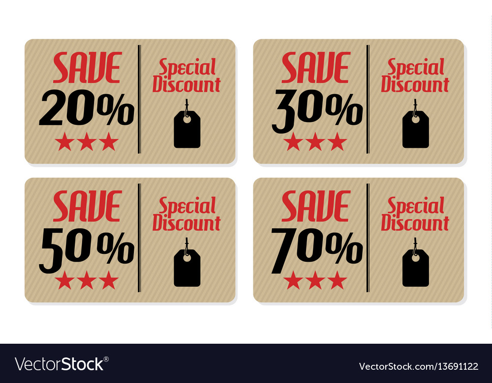 Coupons vector image