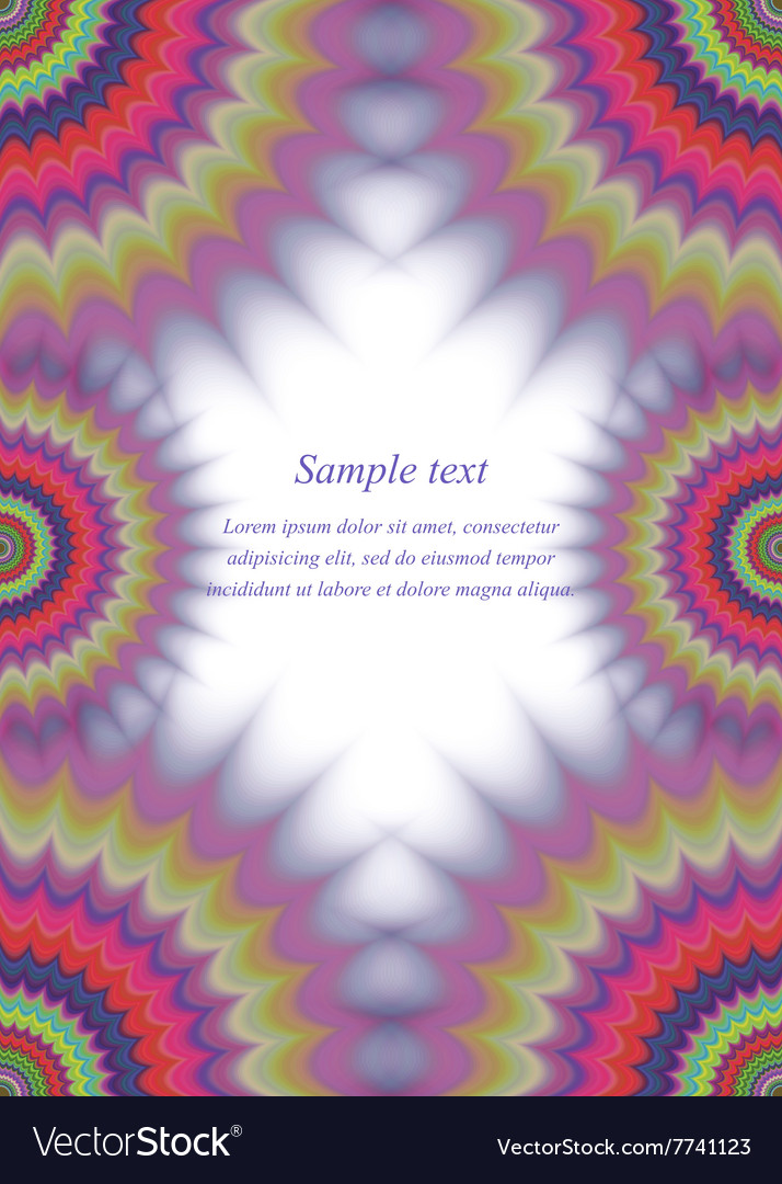 Colorful page border fractal ornament design Vector Image