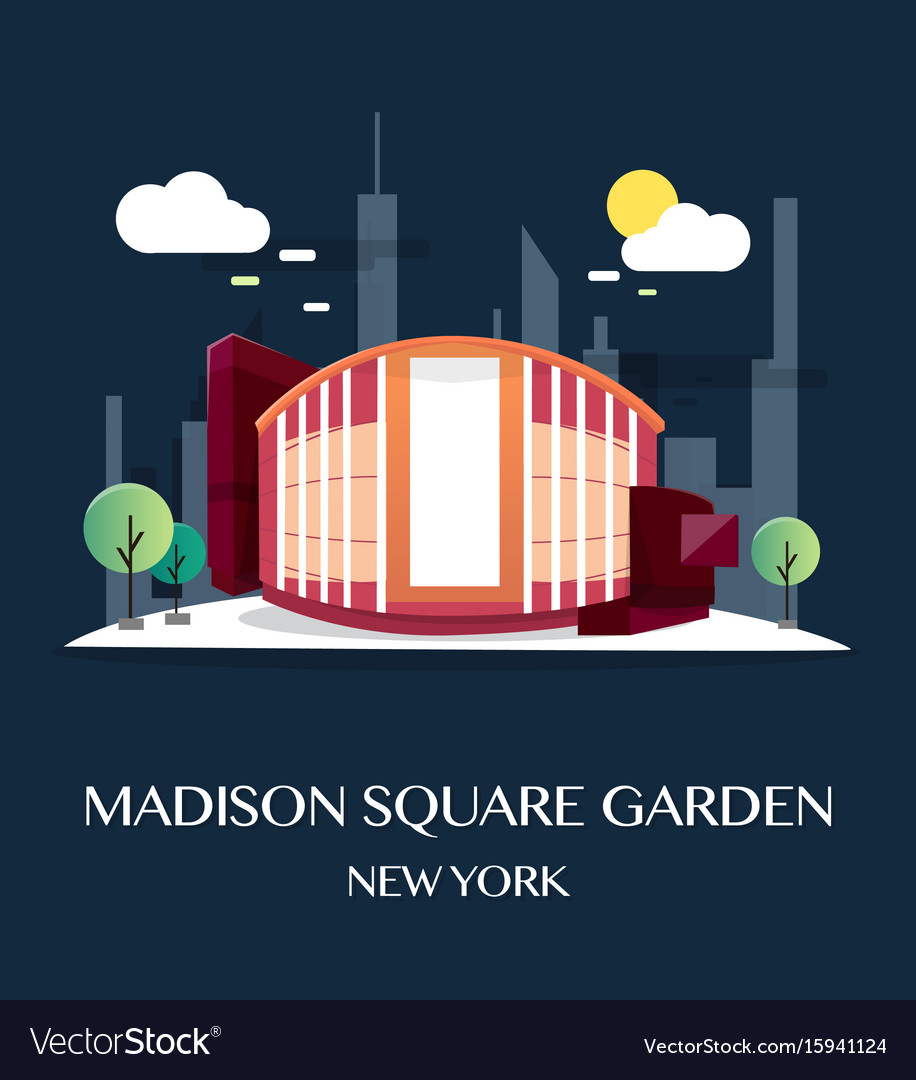 Madison square garden vector image