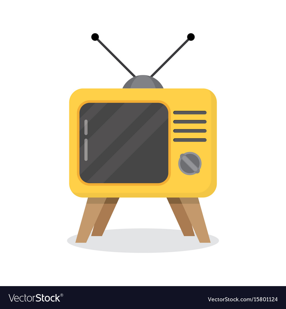 Retro tv on a white background vector image