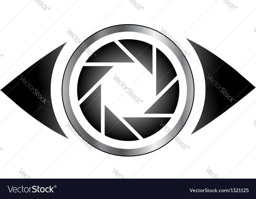 Photography eye logo vector image