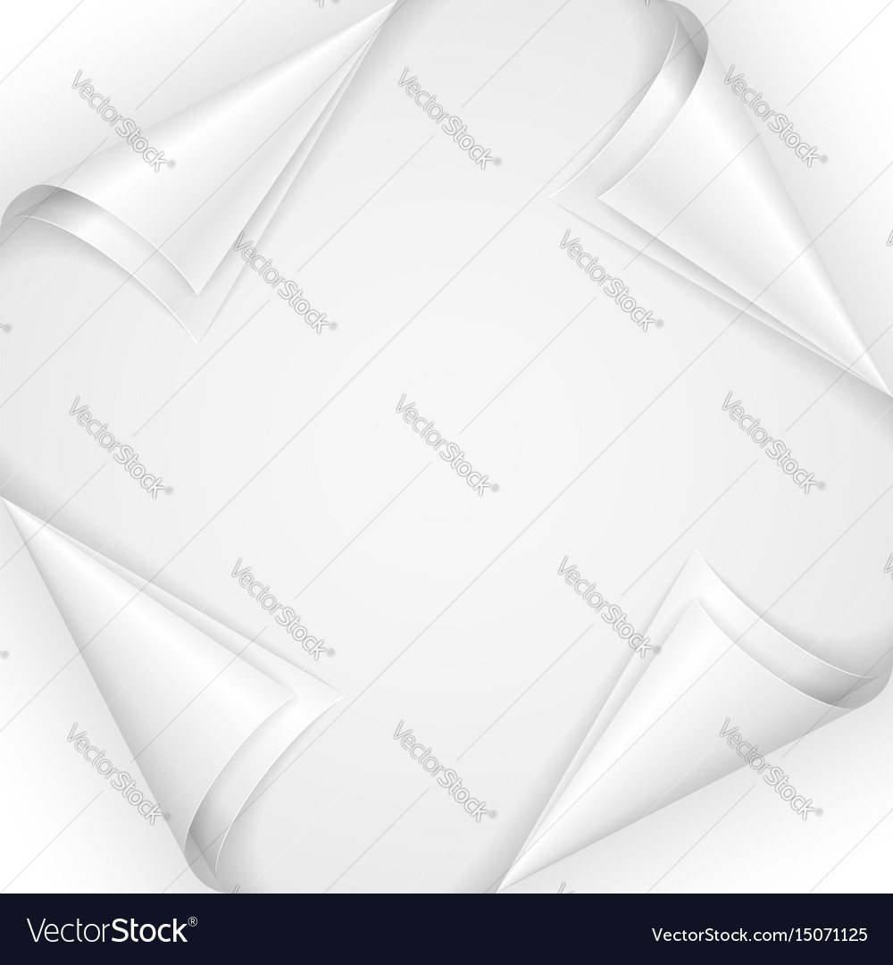 Set of paper corners on white background vector image