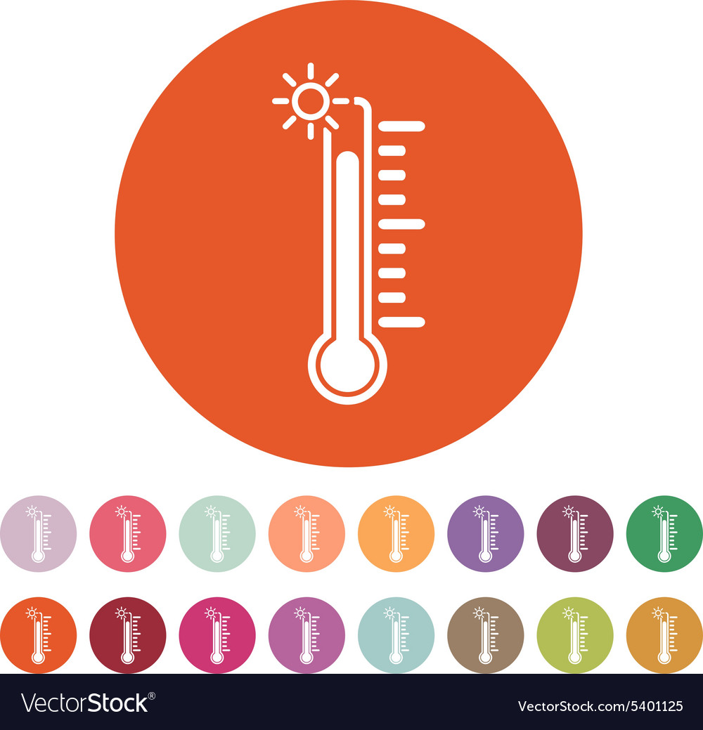 The thermometer icon high temperature symbol vector image biocorpaavc Choice Image