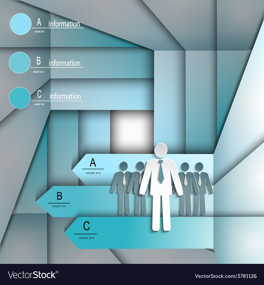 Infographics template with arrows and people vector image