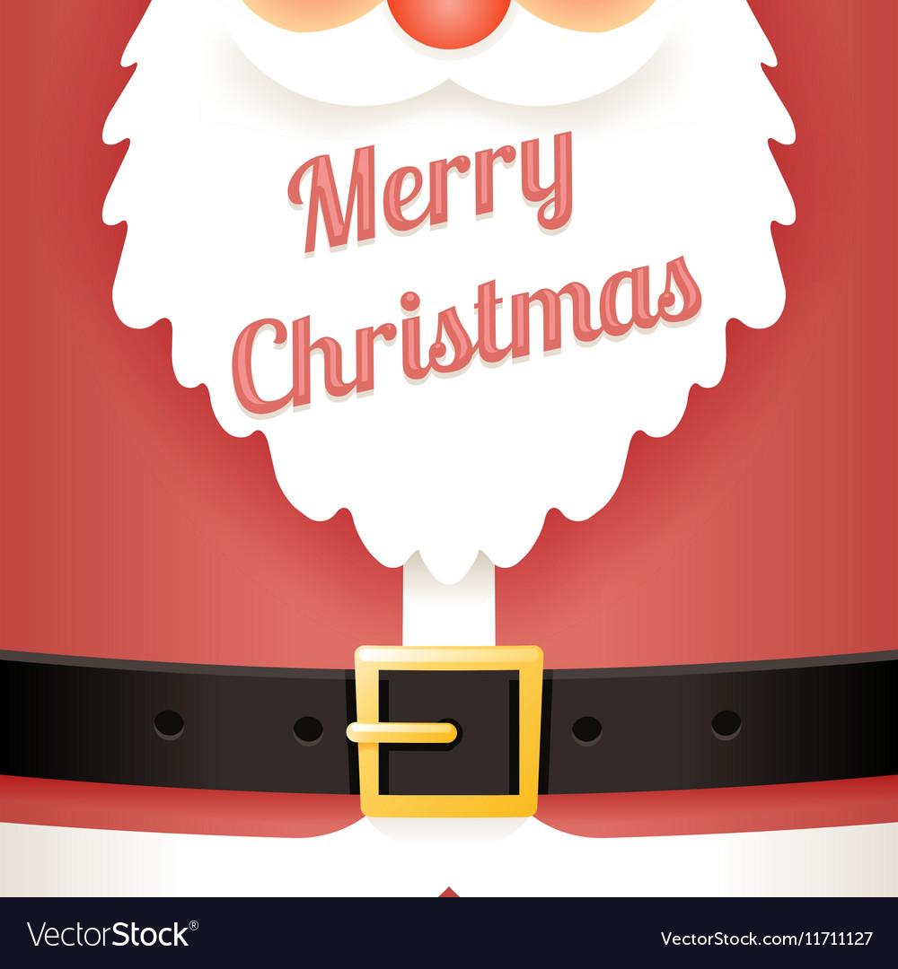 beard text santa claus belt greating card template vector image - Santa Claus Belt