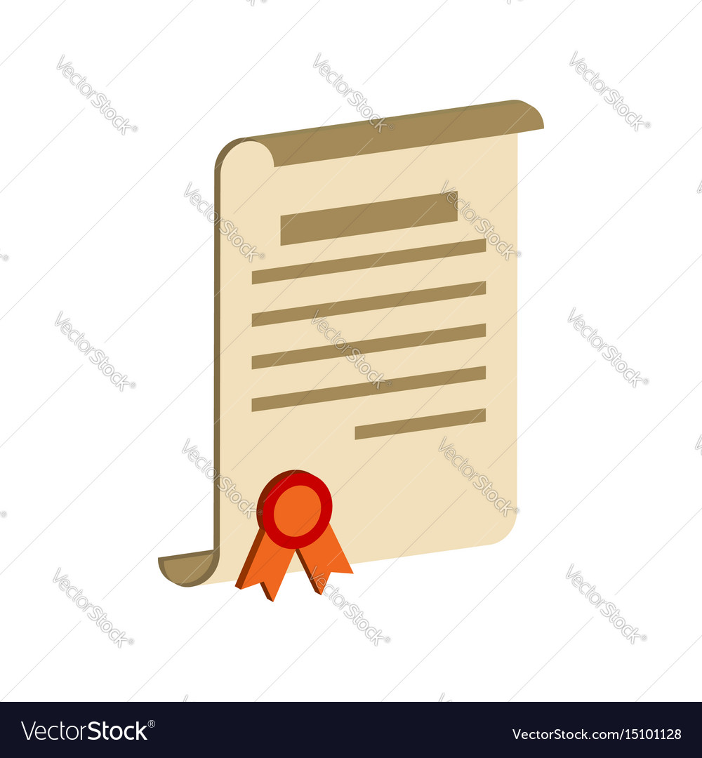 Certificate scroll vector images over 4500 diploma scroll certificate symbol flat isometric vector buycottarizona