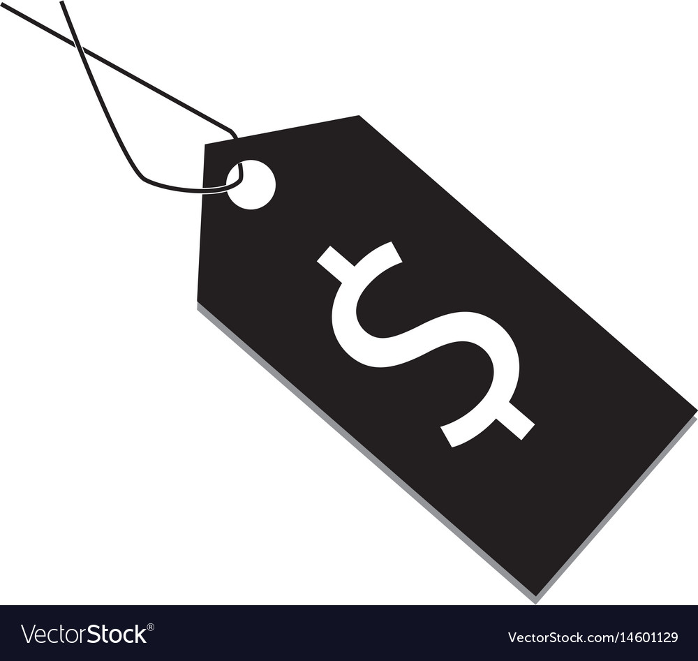 Price tag icon price tag on white background vector image