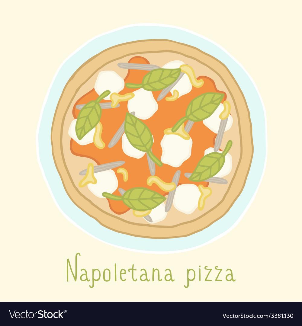 Napoletana pizza vector image