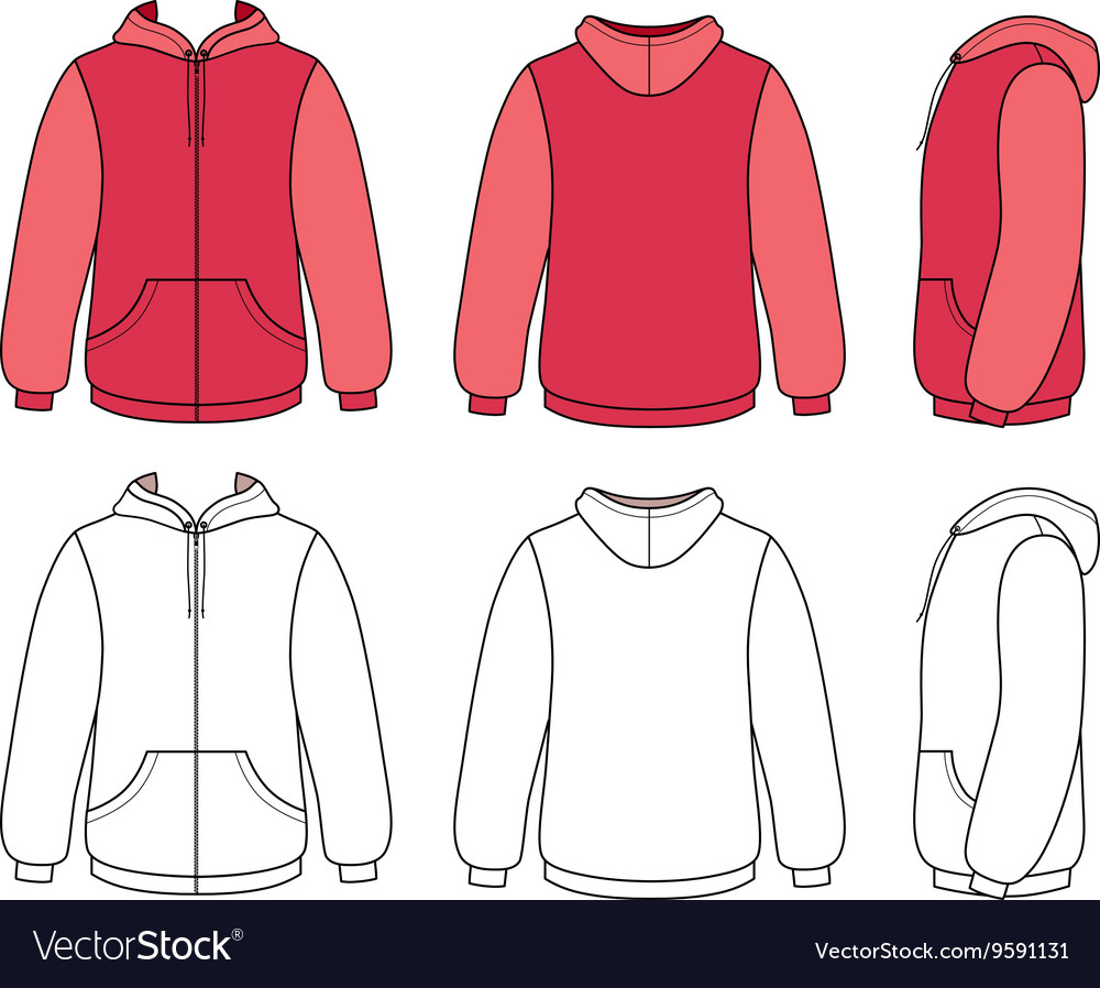 Hoodie sweater template Royalty Free Vector Image