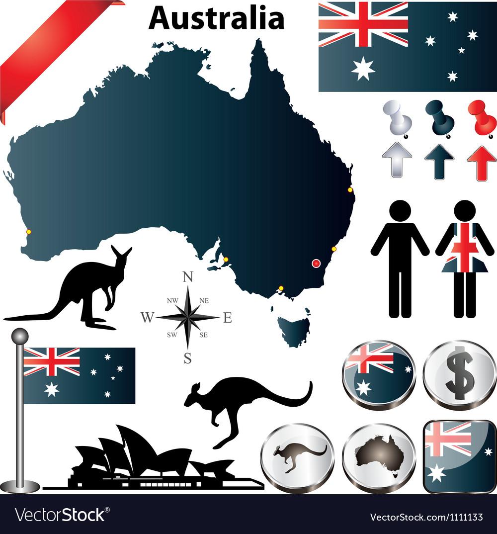 Australia map vector image