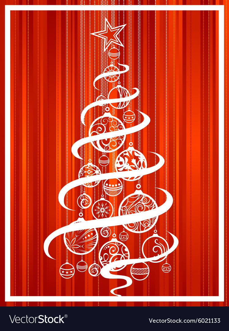 Christmas tree of balls vector image