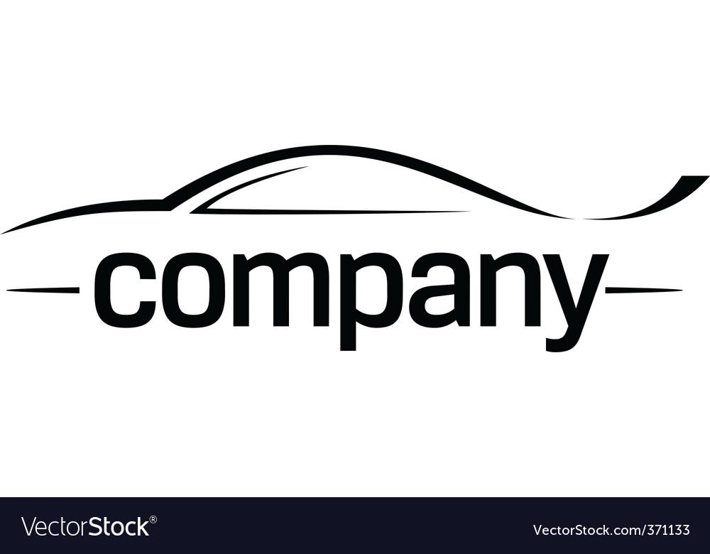 Sport car silhouette logo vector image