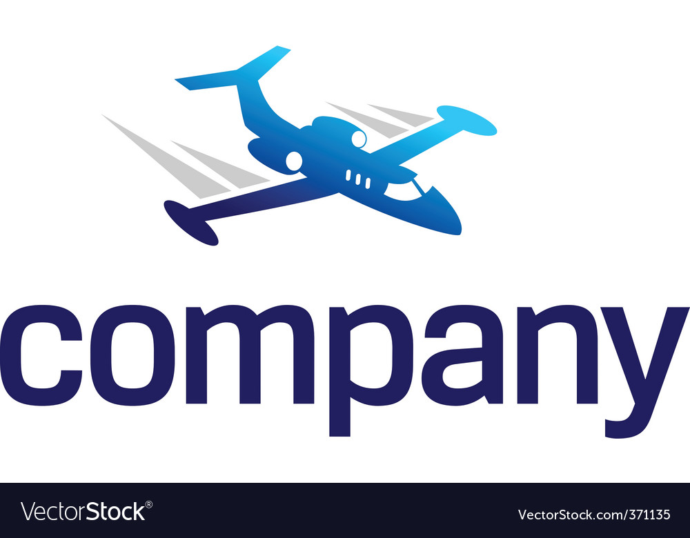 Business jet logo vector image
