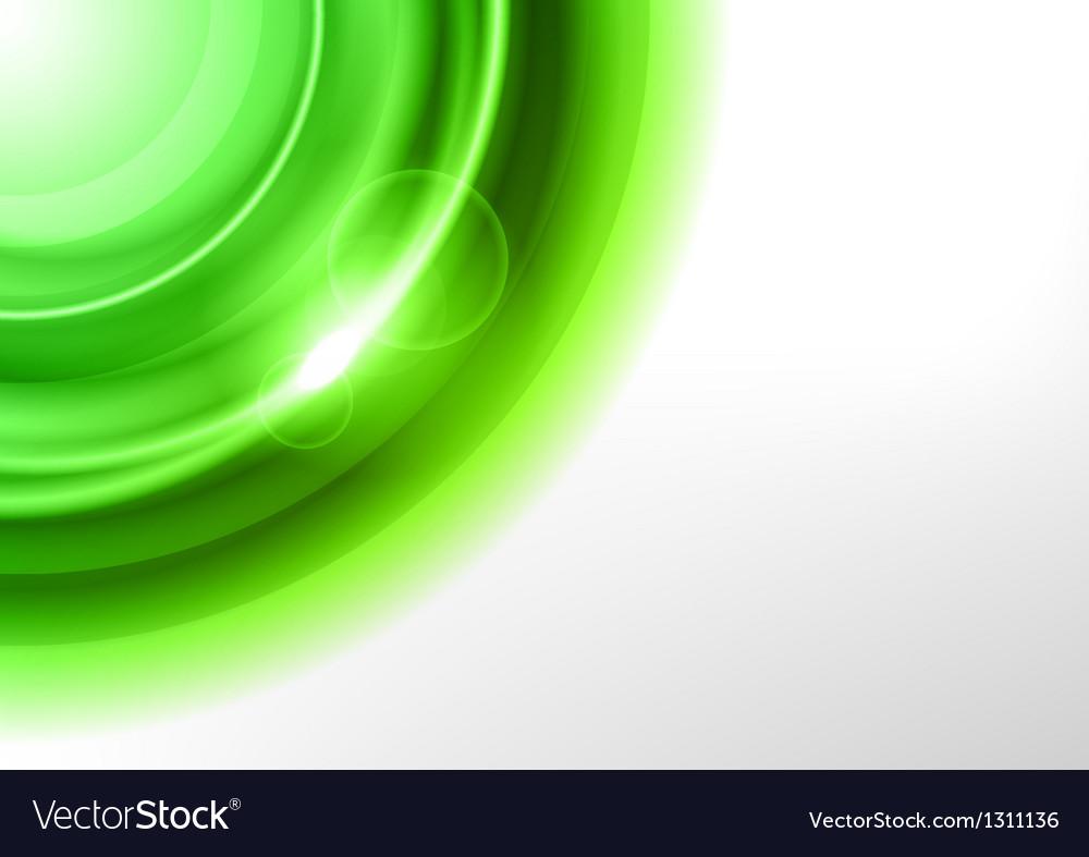 Background green light corner round vector image