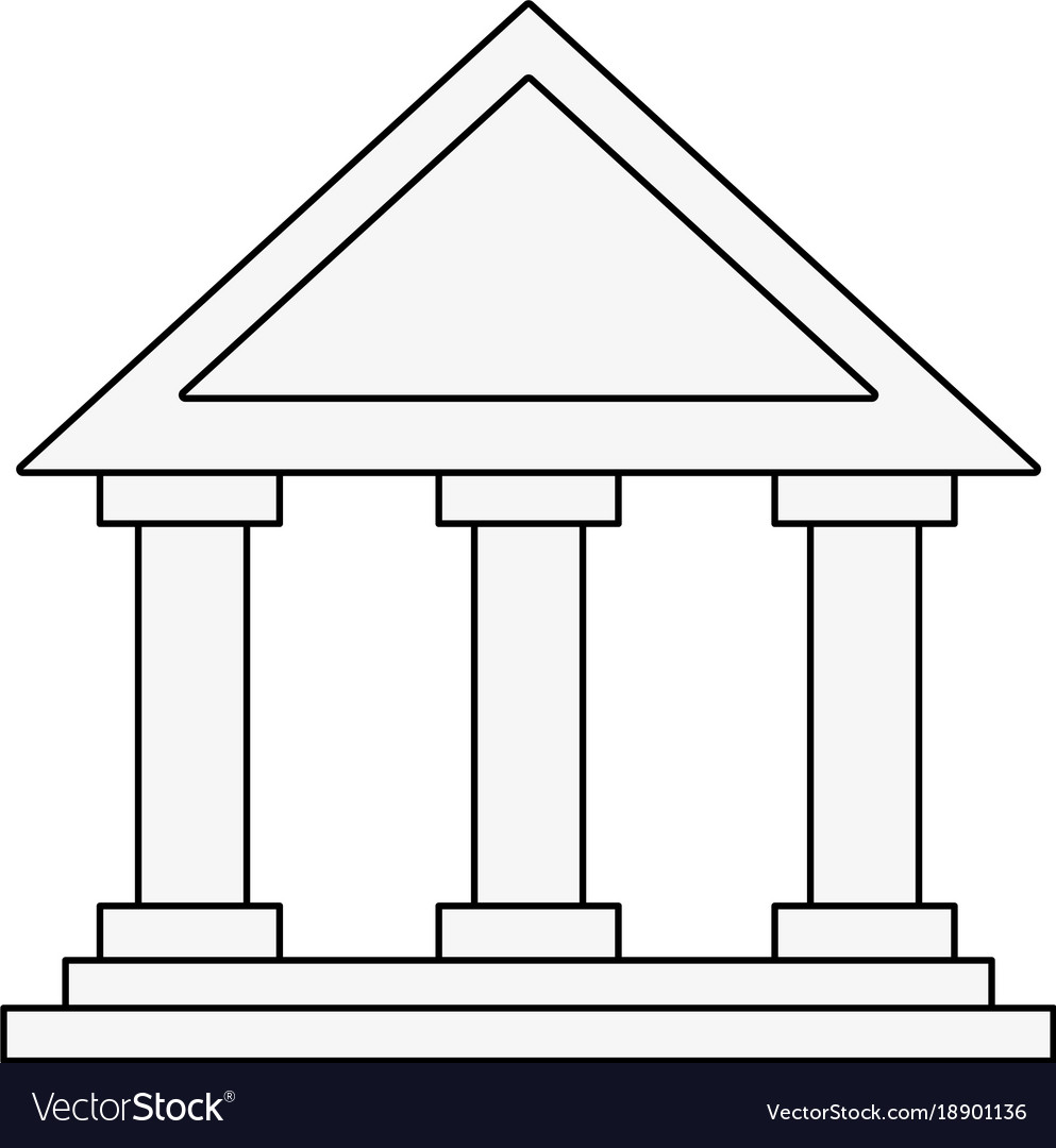 Bank building symbol royalty free vector image bank building symbol vector image biocorpaavc