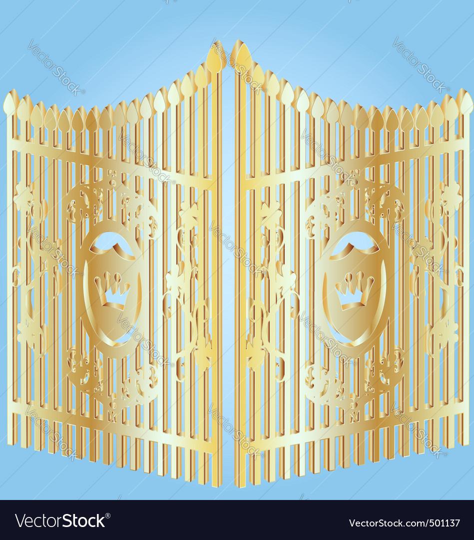 Golden gate vector image