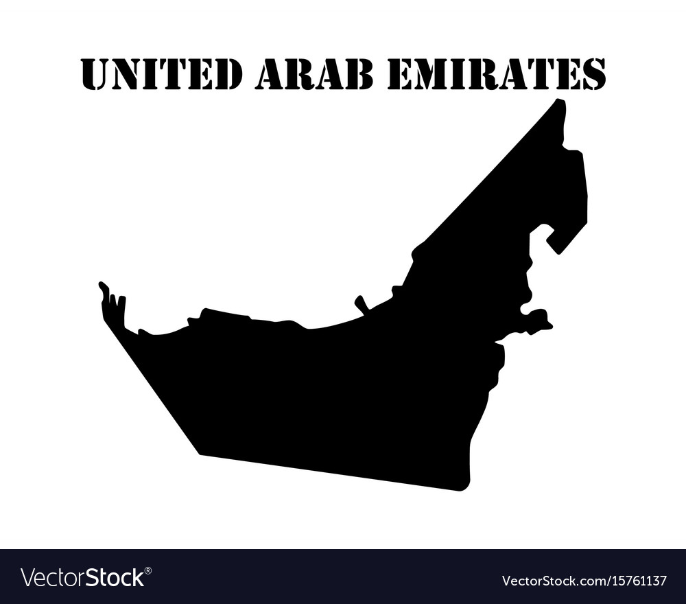 Symbol of isle of united arab emirates and map vector image