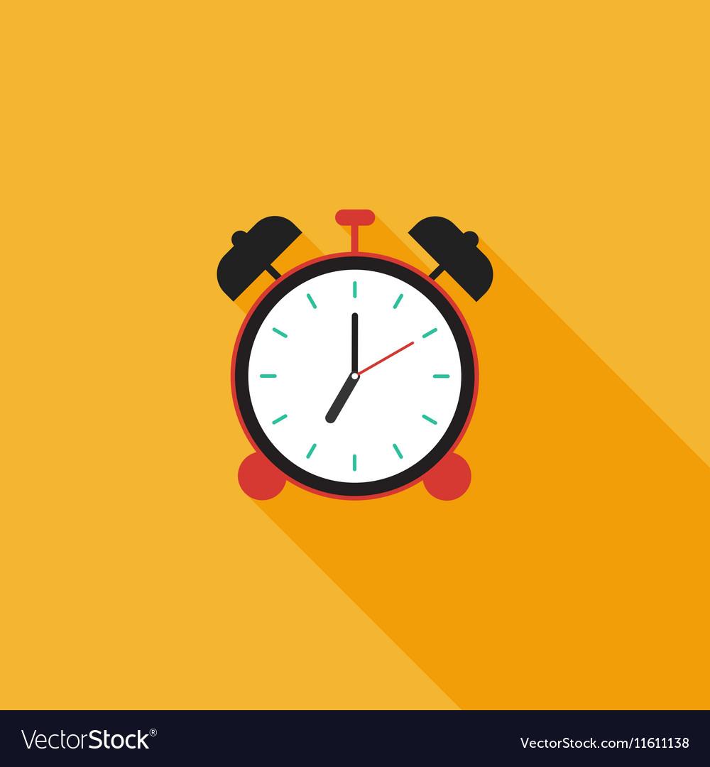 Alarm clock icon flat design vector image