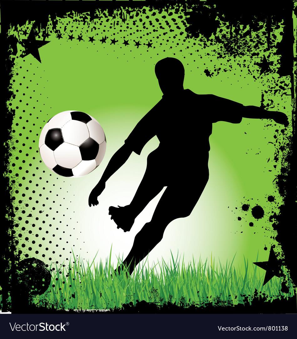 Soccer grunge background vector image