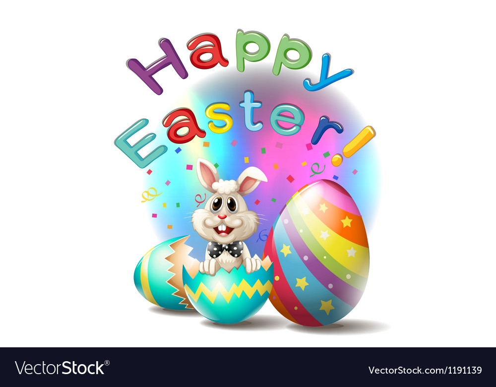 A happy easter poster vector image