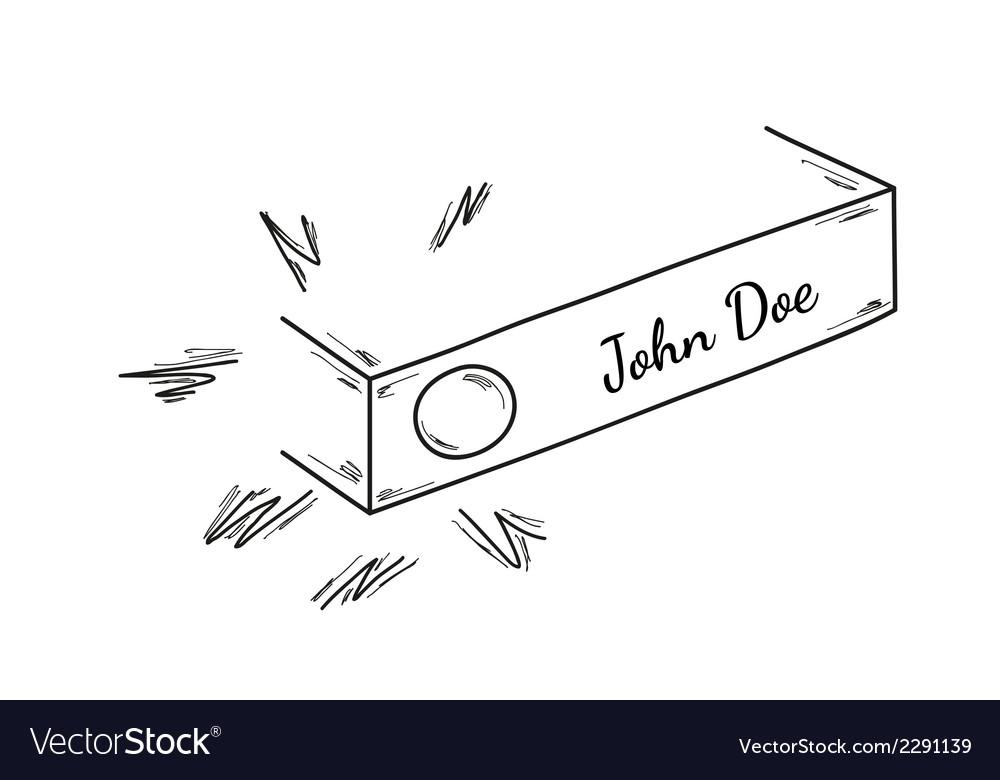 Sketch of the doorbell vector image
