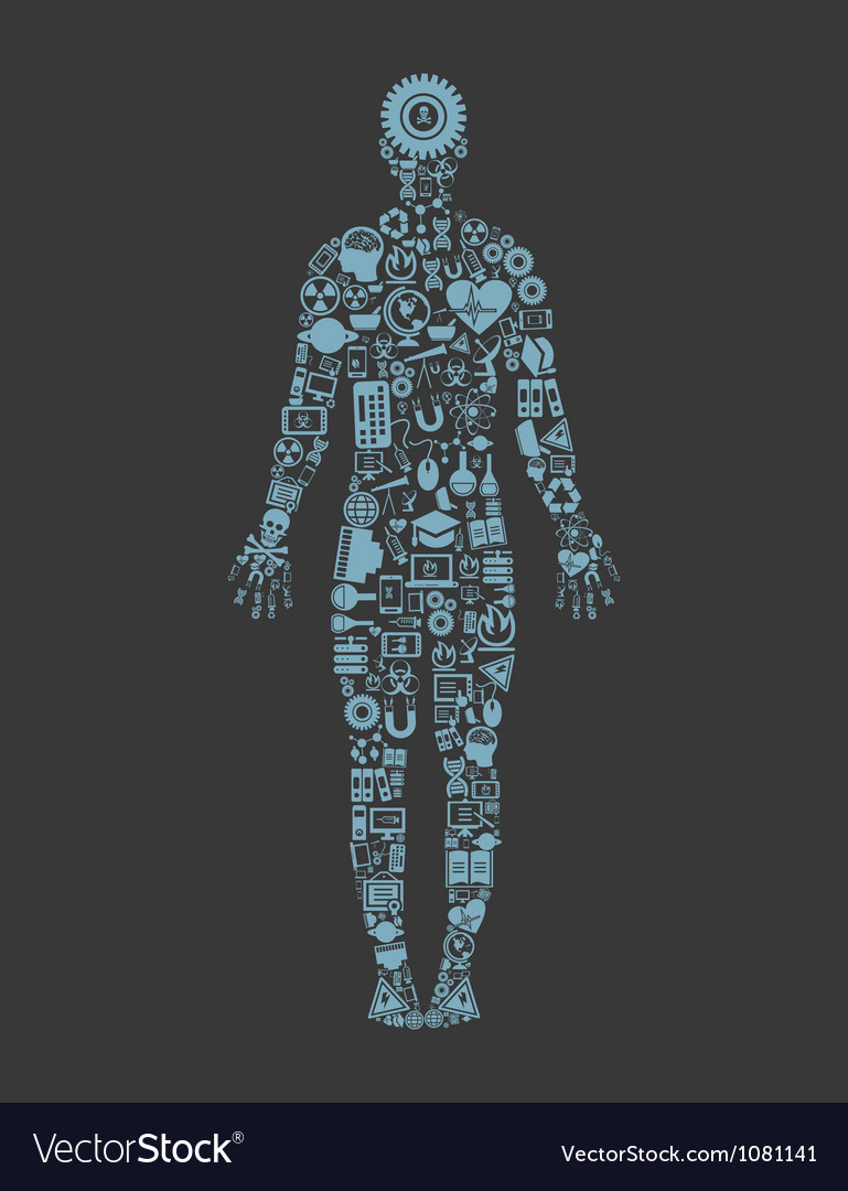 Science the person vector image