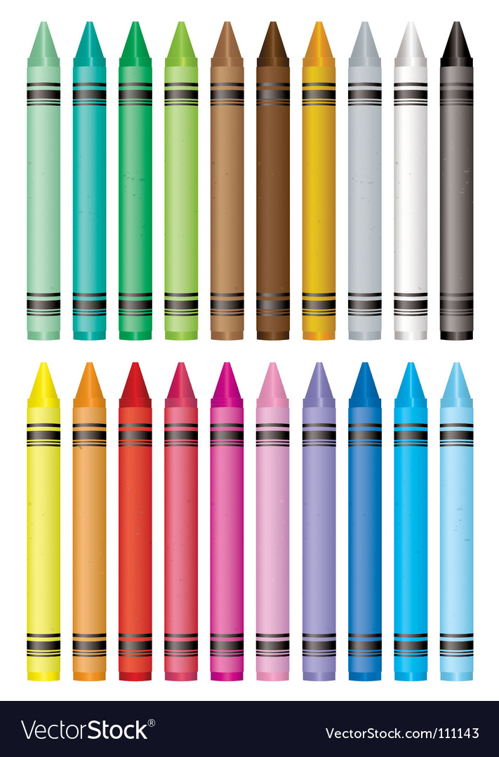 Crayon selection Vector Image