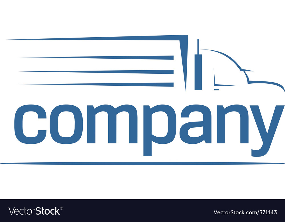 Transport logo vector image