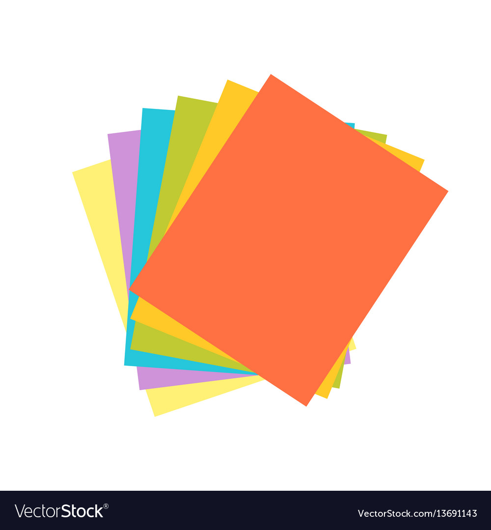 Origami colored paper abstract icon craft symbol vector image