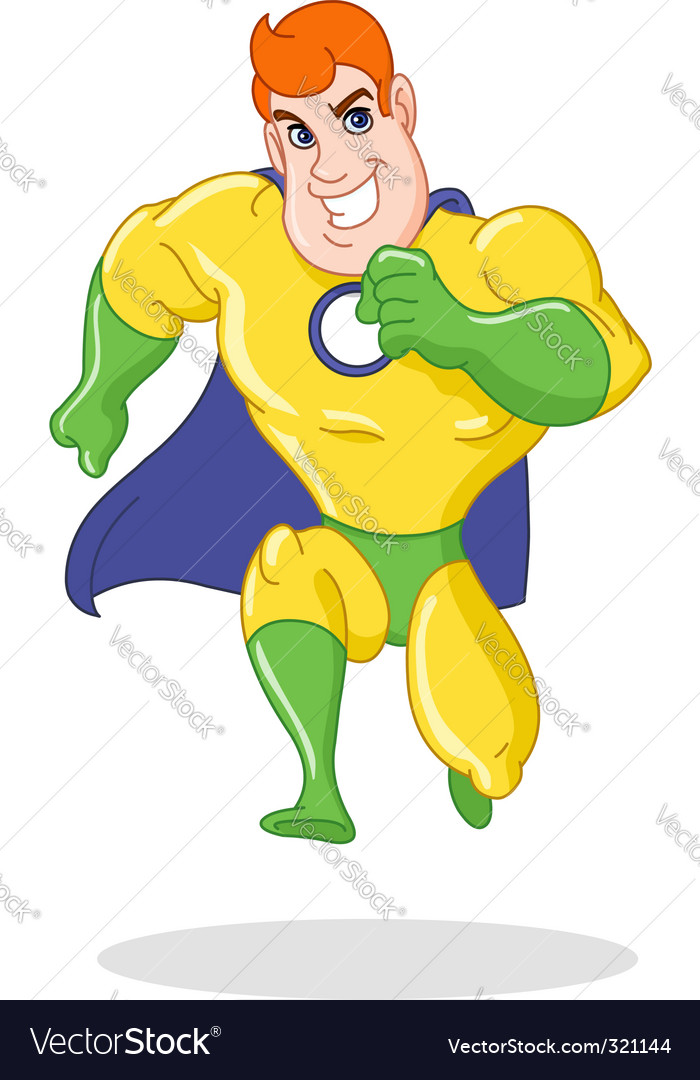 Super hero running vector image